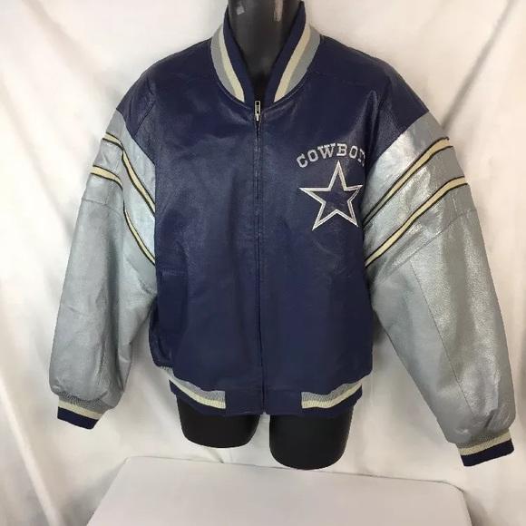 sale retailer a0e9e 4bf25 VTG Mirage Dallas Cowboys Leather Jacket Size L